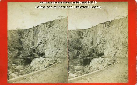 McClain's Quarry, Blackington's Corner, Rockland, ca. 1875