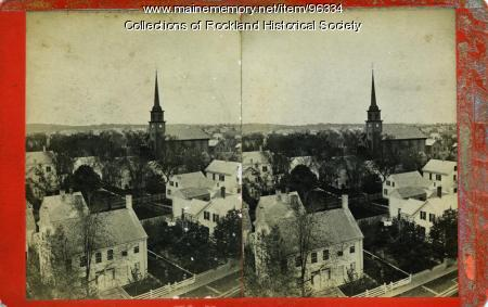 View southwest from top of custom house, Rockland, ca. 1875