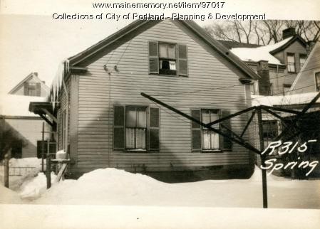 315 Spring Street, Portland, 1924