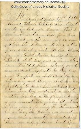 Letter from Thomas Lindsey to Abial Bishop, 1863