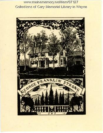 George F. Strong bookplate, 1915