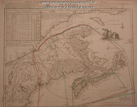 Nouvelle Ecossee ou Partie oriental du canada, 1756