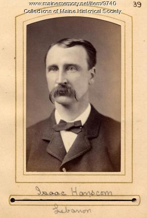 Isaac Hanscom, North Lebanon, 1880