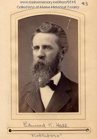 Edward K. Hall, Nobleboro, 1880