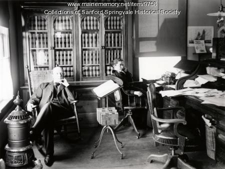 Lawyer Fred J. Allen and partner Belle Leavitt, ca. 1905