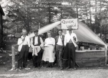 Quick Lunch Stand at Acton Fair, ca. 1905