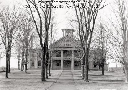 York County Court House, Alfred, 1890s