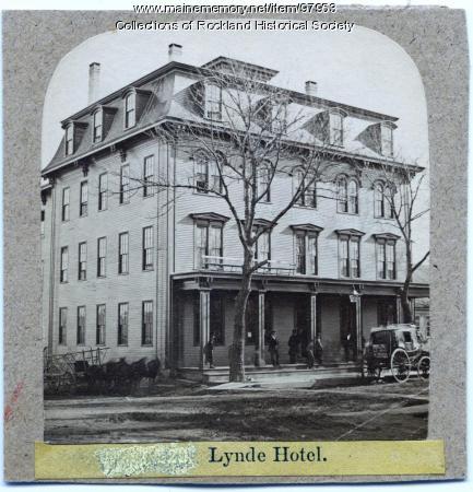 Lynde Hotel, Rockland, ca. 1875