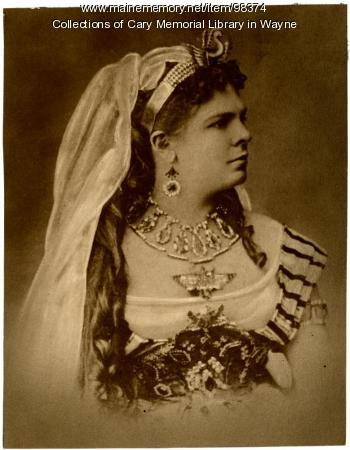 Annie Louise Cary as Amneris, ca. 1875