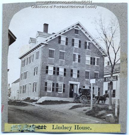 Lindsey House, Rockland, ca. 1875