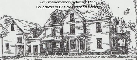 Dixfield Historical Society sketch, Dixfield, ca. 2003