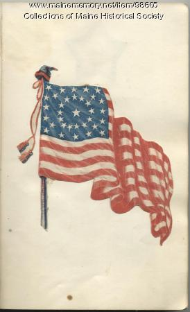 Julia Muzzy patriotic scrapbook, 1862