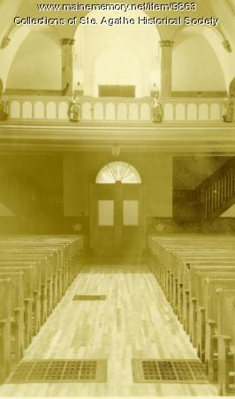 Interior of the St. Agatha Church, St. Agatha, 1899