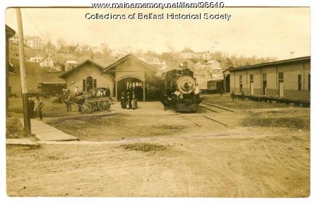 Railroad Station, Belfast, 1908