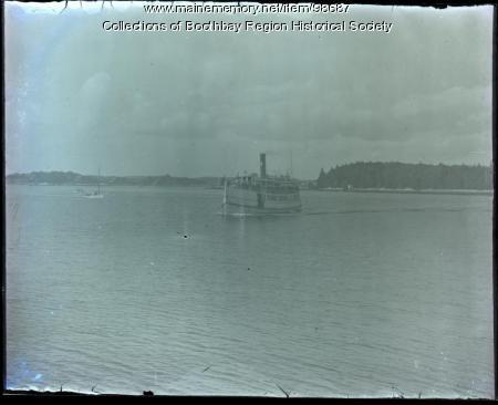 Passenger Steamer Islander II leaving Boothbay Harbor, ca. 1910