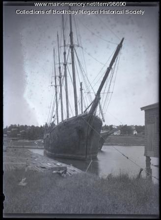 Schooner 'Freeman,' Mill Cove in Boothbay Harbor, ca. 1937