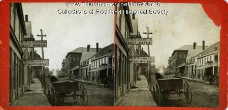 Main Street looking south, Rockland, ca. 1875