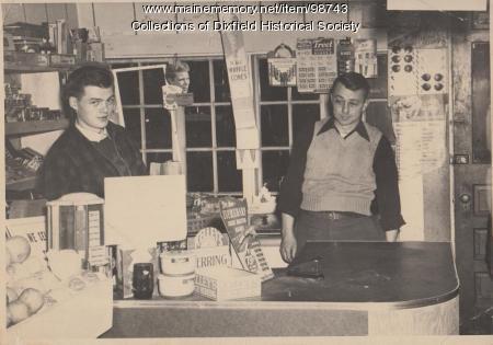Nash's Market, Weld Street, Dixfield, ca.1950