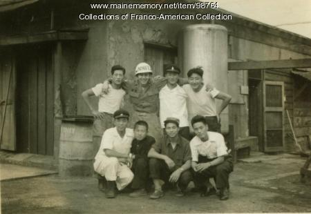 Bert Dutil and Korean Workers, Kunsan (Gusan), South Korea, 1954