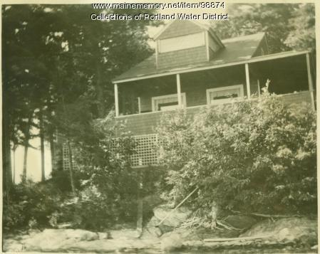 Indian Island summer cottage owned by actors Amy Ricard and Lester Lonergan, Standish, 1923