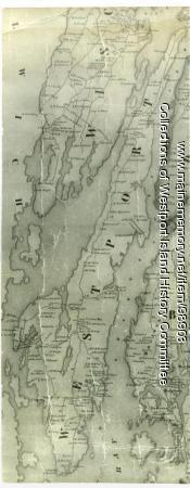 Map of Westport, 1857