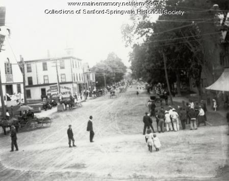 Procession, Main Street, Sanford, ca. 1910