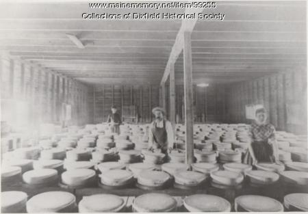 Cheese wheels produced at Dixfield Centre Cheese Factory, Dixfield, ca. 1880