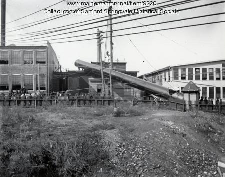 Raising a Smokestack, Goodall Worsted Co., ca 1905