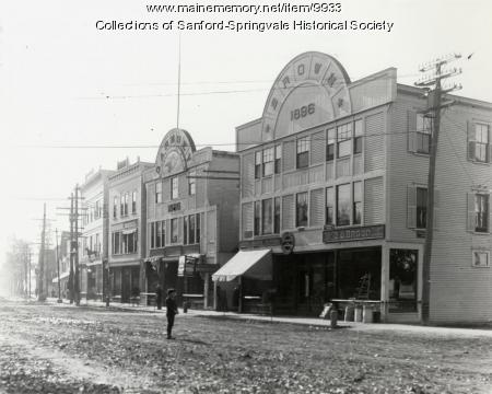 Main Street, Sanford, Looking South, Early 1900s