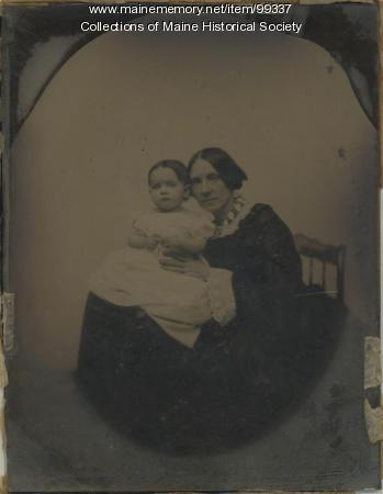 Lucretia Day Sewall and baby, ca. 1845