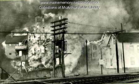 Burning of the Hooper Street Tenements, Biddeford, 1963