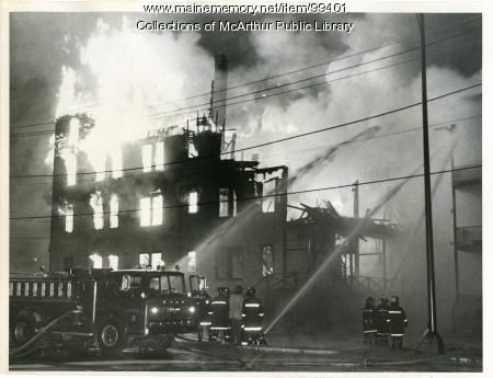 Burning of the Washington and Alfred Street Tenement, Biddeford, 1973