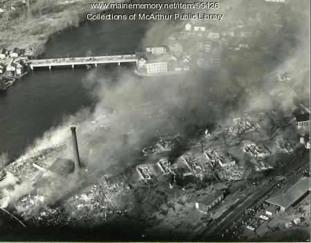 Remnants of the Diamond National & Hooper Street Fire, Biddeford, 1963