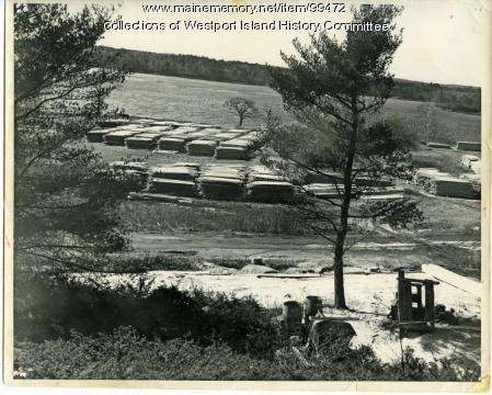 Lumber yard, Westport Island, ca. 1946