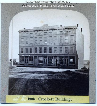 Crockett Block, Rockland, ca. 1875