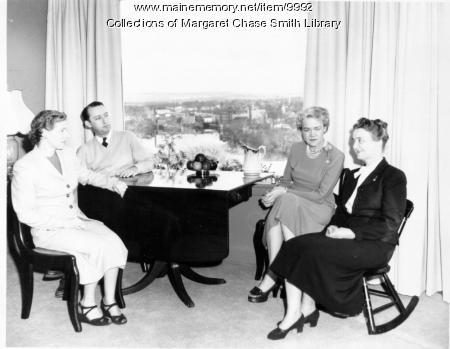 Visitors, Margaret Chase Smith home, Skowhegan, 1949