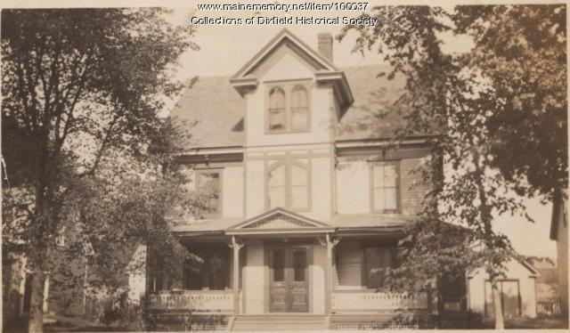 George Merrill Home, Weld Street, Dixfield, ca. 1910