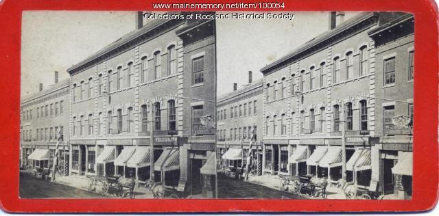 Berry and Cobb Block, Rockland, ca. 1875