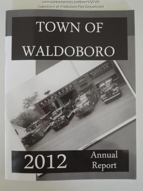 2012 Town Report cover, Waldoboro