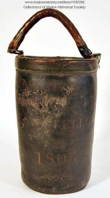 Stephen Longfellow fire bucket, Portland, 1803