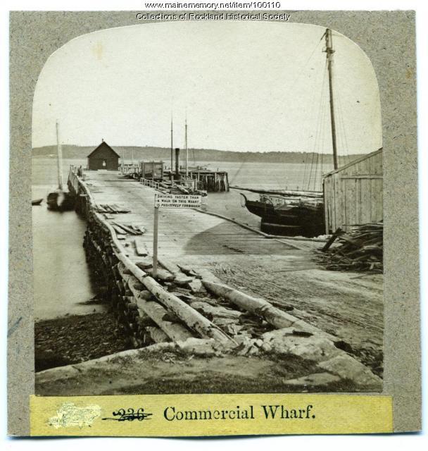 Commercial Wharf, Rockland, ca. 1875