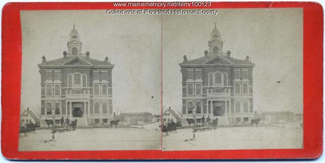Knox County Courthouse, Rockland, ca. 1875