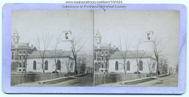 Universalist Church Built in 1838, Rockland, ca. 1875