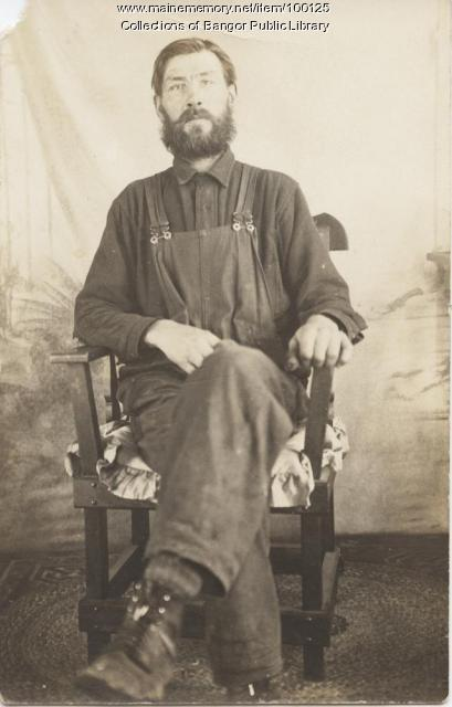 Typical Maine lumberman, Bangor, ca. 1900