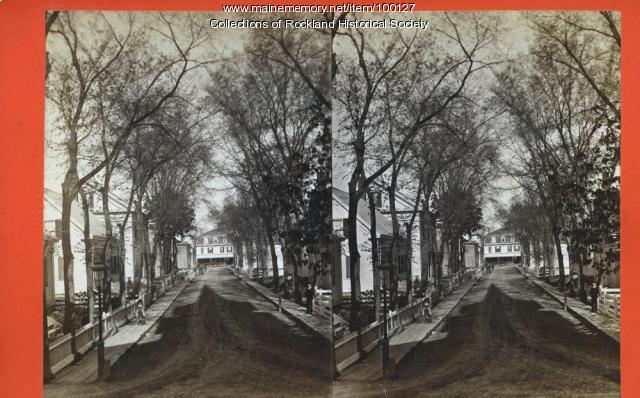 Elm Street east from Union Street, Rockland, ca. 1875