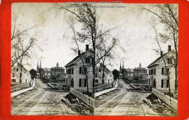 Union Street south from Summer Street, Rockland, ca. 1875