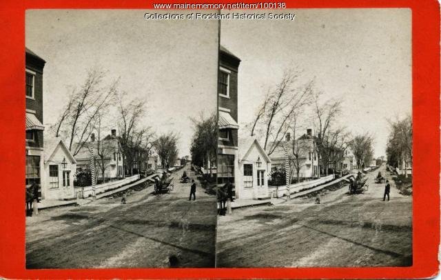 North Main Street, Northwest from the Rankin Block, Rockland, ca. 1875