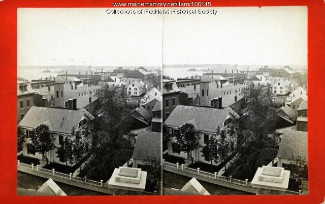 View southeast from top of Custom House, Rockland, ca. 1875