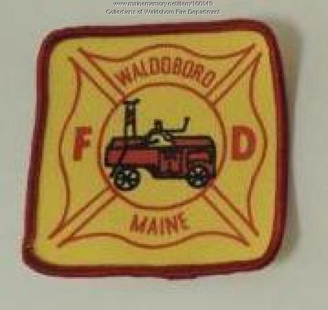 Original Waldoboro Fire Department patch, Waldoboro, ca. 1960