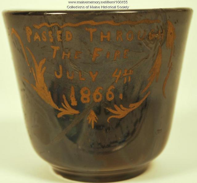 Fire relic teacup, Portland, ca. 1863